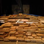 Timber stacked to dry in kiln